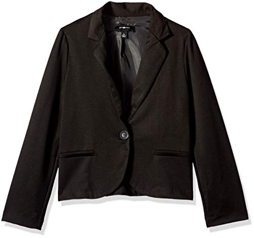 Amy Byer Girls' Big Perfect Little Blazer, Black, L (Junior Uniform Dress)