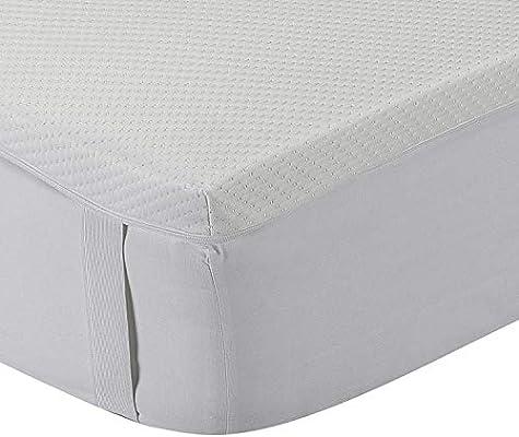 Classic Blanc - Topper/sobrecolchón viscoelástico confort plus, Aloe Vera, firmeza media, altura 5cm. 200x200cm-Cama 200 (Todas las medidas)