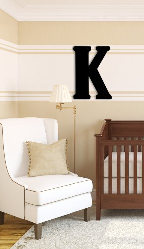 Munch Oversized Black Wood Letters, K (Home Letters Initials Decor)