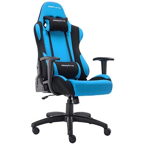 Deerhunter Gaming Chair Swivel Leather Office Chair Mesh Fabric Racing Sport Ergonomic High Back Computer Desk Chair Headrest Lumbar Support