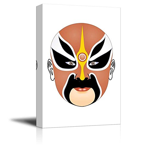 Canvas Prints Wall Art - Chinese Peking Opera Makeup Traditional Face Changing Mask | Creative Wall Decor Ready to Hang - 32