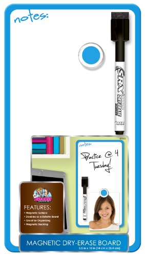 Board Dudes 5.5 x 10 Inches Magnetic Dry Erase Board Includes 1 Marker and Magnet Frame Color May Vary (DDD10) -