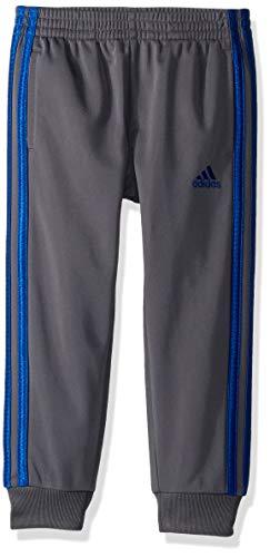 adidas Boys' Little Tricot Jogger Pant, Imapact Grey Five/Collegiate Royal, 6