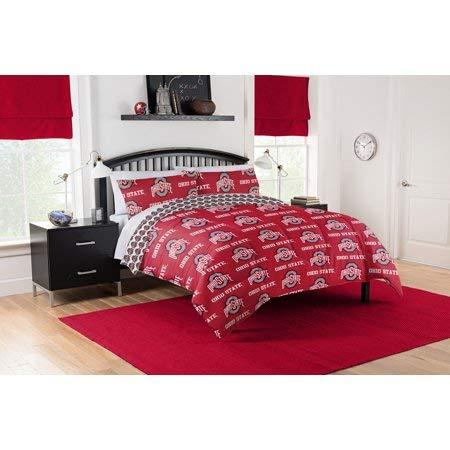 Ohio State Buckeyes Queen Comforter & Sheet Set QUEEN ()
