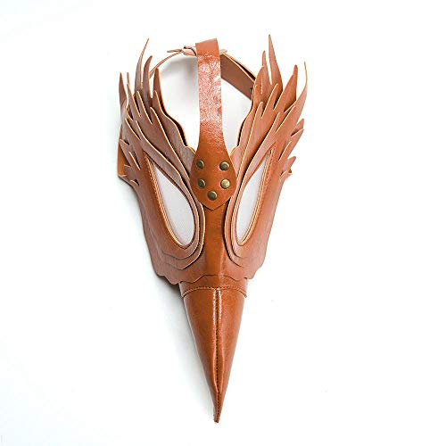 Aolvo Plague Doctor Mask, Faux Leather Bird Beak Mask Long Nose Cosplay Steampunk Plague Doctor Mask for Christmas Party and Role-Playing -