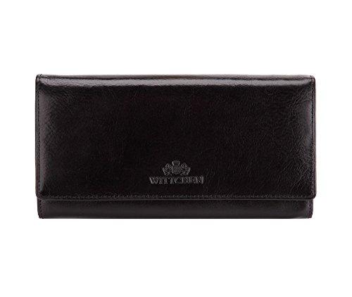 Wittchen Brieftasche   Farbe: Schwarz  Material: Narbenleder  Größe: 18,5x10 CM,   Orientierung: Horizontal   Kollektion: Italy  21-1-052-L1