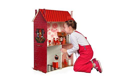 - Easy Playhouse Dollhouses DreamHouse Cardboard Playhouse Modern Doll House