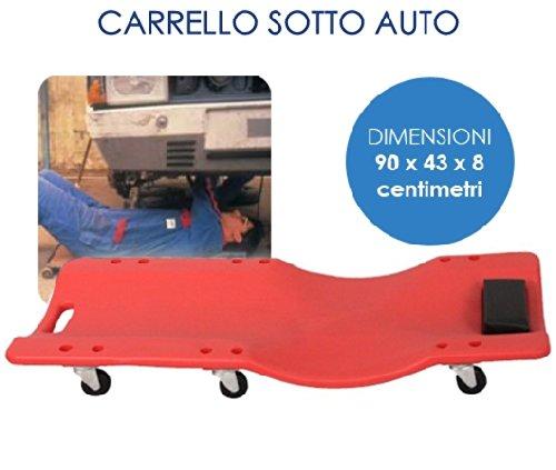 Carrello/Carrellino sottoauto/sotto auto per meccanico/officina con poggia testa (Cod.:3549) GrecoShop