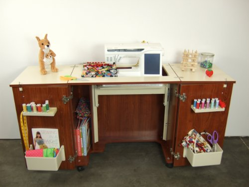 Kangaroo Bandicoot Sewing Machine Cabinet with Gas strut mechanism - Sewing Machine Cabinets And Tables