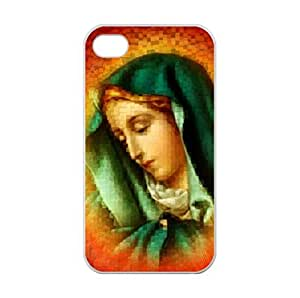 Abstract Blessed Virgin Drawing Special Designed for iPhone 4/4s Only Case Cover Laser Technology 100% TPU