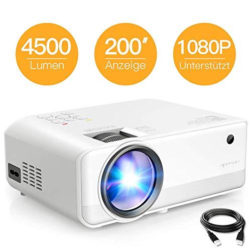 Apeman Beamer  Mini Beamer Tragbarer Projektor Native 1280 * 720 Pixels 4500...