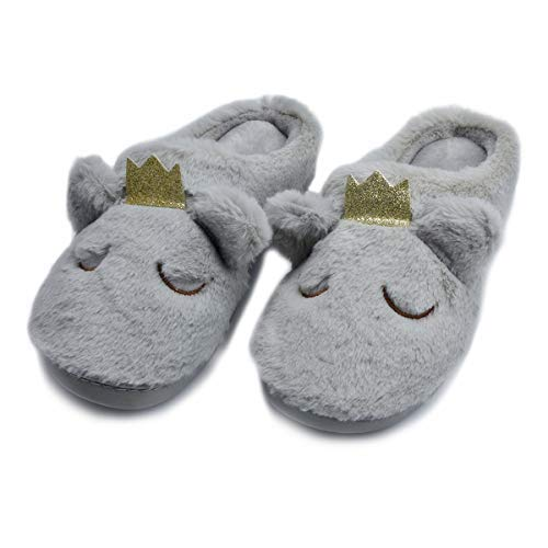 86f8689a3535 Cyiecw Women s House Slippers Cute Fox Animal Slipper Comfort Fluffy Plush  Indoor Outdoor Non-Slip