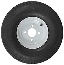 Kenda Trailer Tire/Wheel Assembly - 6-Ply Rated/Load Range C - 5.70-8 - 4 Hole Rim 30120