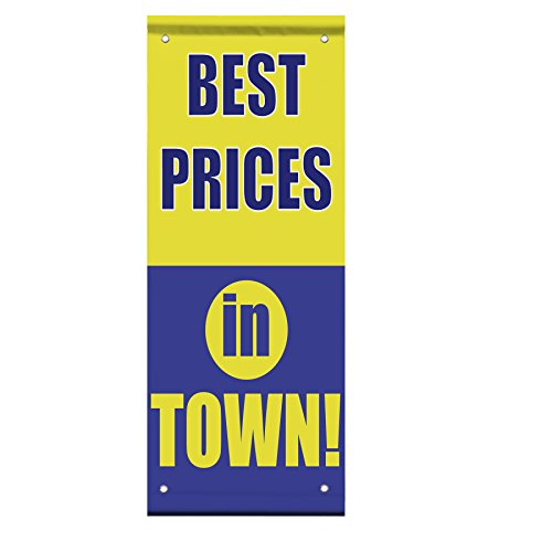 Best Prices In Town Double Sided Vertical Pole Banner Sign 36 in x 48 in w/ Pole Bracket by Fastasticdeals