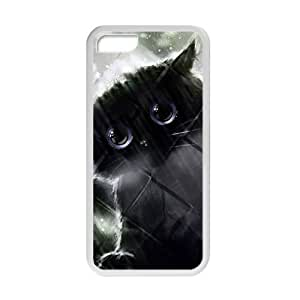 XiFu*MeiCute Lovely Adorable Cat Kitty White Phone Case for iphone 6 4.7 inchXiFu*Mei