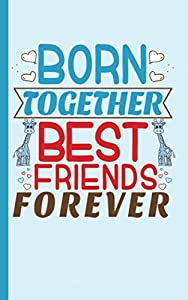 """Twin Boys Best Friends Journal - Notebook: Half Lined Half Blank Page, Twin to Twin Baby Sibling Playtime - Draw and Write Story Note Book, Small 5x8"""" (Writing Drawing Kid Gifts Vol 4)"""