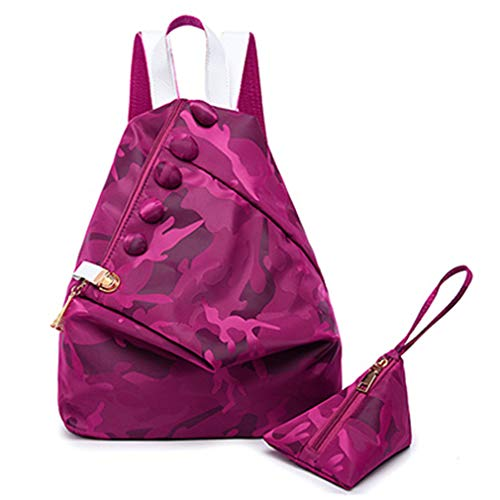 PCS 29x15x34cm Set Rosered Bags Women Purple School 2 Backpack qAPfCw4qd