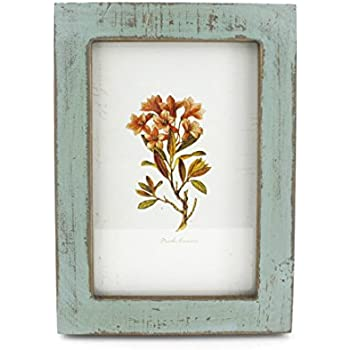 4x6 Inches Simple Rectangular Desktop Family Picture Photo Frame with Glass Front (Blue)