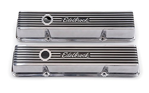 Edelbrock 4262 Valve Cover Kit (Elite II Series SBC (Cruiser Valve Cover)