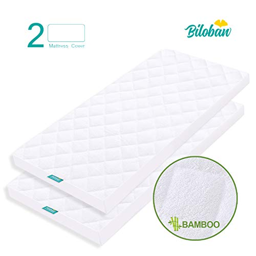 - Bassinet Mattress Pad Cover, Waterproof, Fits for All Mainstream Bassinet Mattress - Rectangle,Hourglass,Oval, 2 Pack, Ultra Soft Bamboo Fleece Surface, Washer & Dryer