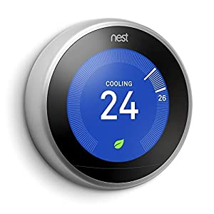 Google Nest Learning Thermostat – Programmable Smart Thermostat for Home – 3rd Generation Nest Thermostat – Works with Alexa – Stainless Steel