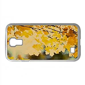 Maple Branch In The Fall Watercolor style Cover Samsung Galaxy S4 I9500 Case (Autumn Watercolor style Cover Samsung Galaxy S4 I9500 Case)