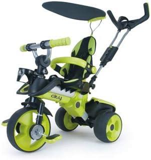 INJUSA - Triciclo Evolutivo City Green con Techo solar y Asiento y Respaldo Regulable, Recomendado a partir de +6 Meses