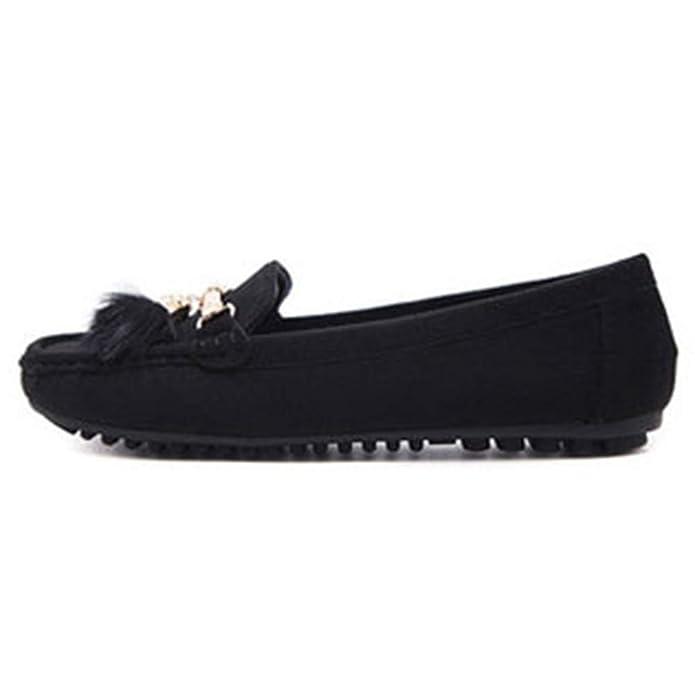 Mocasines Mujer Planos Zapatos Los Cómodos Conducción Casual Bola de Pelo: Amazon.es: Zapatos y complementos
