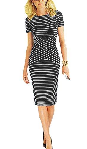 超显瘦!时尚条纹连衣裙只要$18.69!