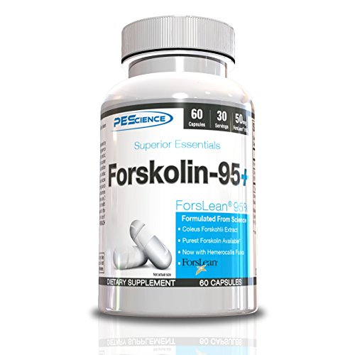 PEScience Forskolin-95+ (Patented ForsLean® 95%), 60 Capsules