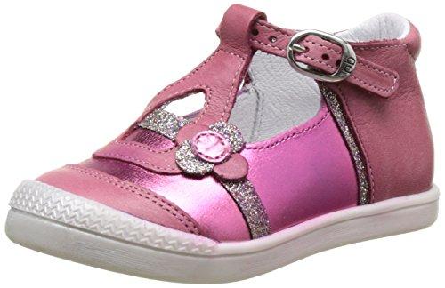 babybotte Pearly - Zapatos de primeros pasos Bebé-Niños Rose (Rose Framboise/Glitter)