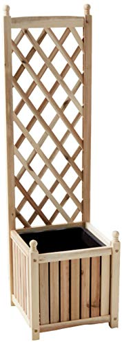 DMC Products Lexington 16-Inch Square Solid Wood Trellis Planter, Natural from DMC Products