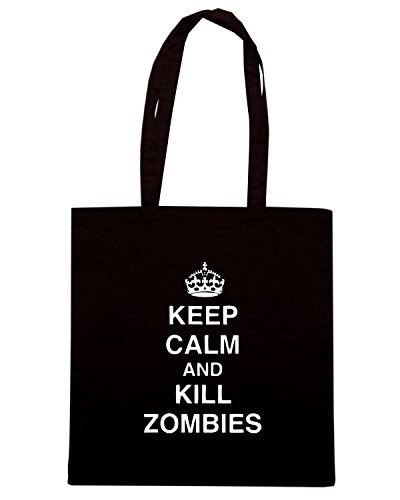 T-Shirtshock - Bolsa para la compra TZOM0042 keep calm and kill zombies tshirt Negro