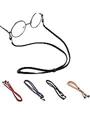 Eyeglasses String Holder Strap Cord,Leather Eyeglasses Cord Holder Lanyard Chain Cord Necklace, Sports Sunglasses Strap for Men Women Boys Girls