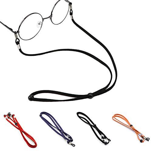 Eyeglasses String Holder Strap Cord,Leather Eyeglasses Cord Holder Lanyard Chain Cord Necklace, Sports Sunglasses Strap for Men Women Boys Girls from Rocutus