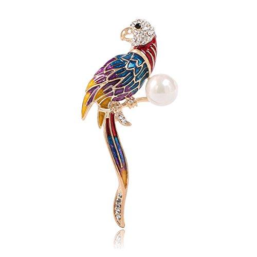 S cross-border popular explosion models selling clothing creative cloisonne animal parrot brooch