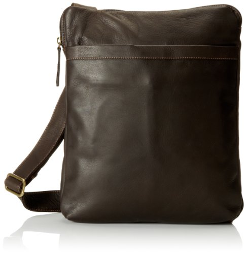 Derek Alexander NS Top Zip Unisex Messenger Bag, Brown, One Size by Derek Alexander Leather