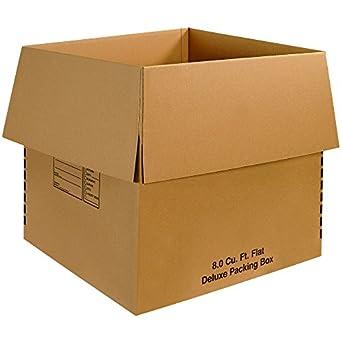 "24/"" x 10/"" x 6/"" Flat Cardboard Corrugated Boxes 200#//ECT-32, 65 lbs Capacity"