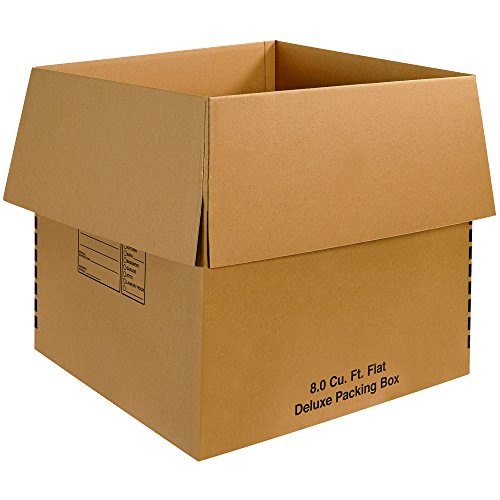 Aviditi Single-Wall Deluxe Corrugated Packing Box, 24