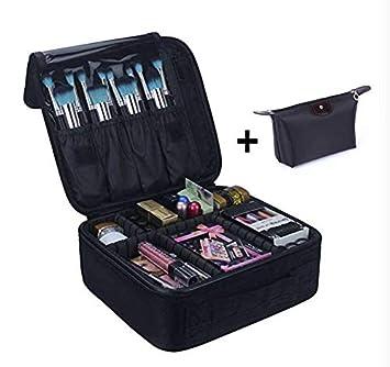 2010c65e132b Amazon.com : Gerlify Portable Travel Makeup Bag, Makeup Train Case ...