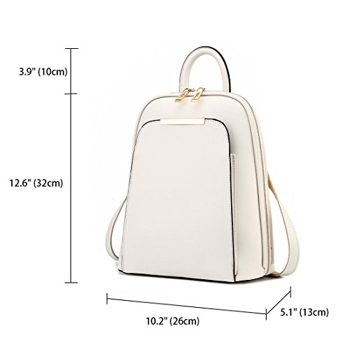 Fekete Bags Handbags Backpack Laptop Handbags Bag Womens Shoulder School Piszkosfehér Backpack Leather qF4vTpx