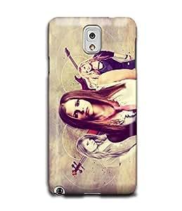 Tomhousomick Custom Design Women's Pretty Singer Avril Ramona Lavigne Case for Samsung Galaxy Note3 N9000