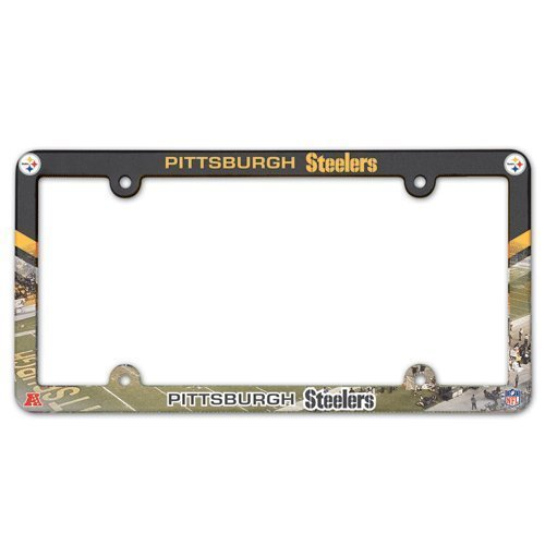 NFL Pittsburgh Steelers LIC Plate Frame Full Color (Steelers Plate License)