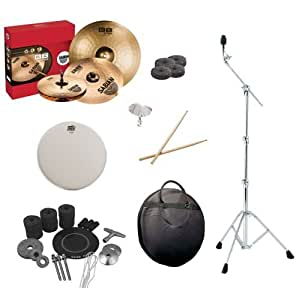 sabian b8 pro performance set pack with convertible cymbal boom stand survival kit. Black Bedroom Furniture Sets. Home Design Ideas