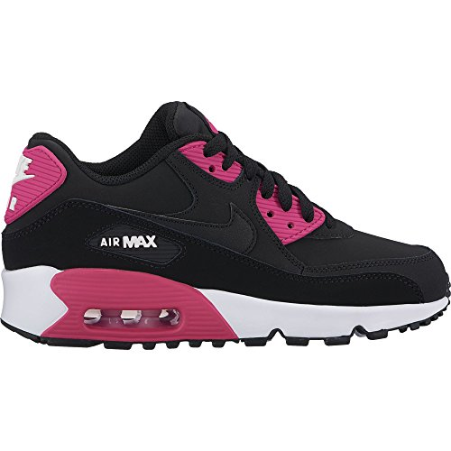 9445d8af5a24e NIKE Air Max 90 LTR(GS) Big Kid's Shoes Black/Pink Prime/White 833376-010  (7 M US)