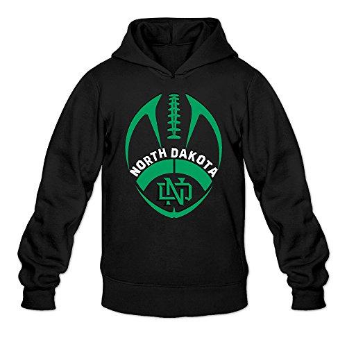 Rebecca Custom University Of North Dakota Men's Long Sleeve Hoodies S Black -