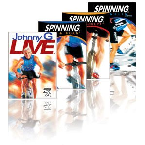Spinning 4 DVD Set - Spin & Slim Express / Spin & Burn / Spin & Sculpt / Johnny G Live (Spinning Dvd Set)