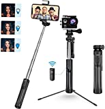 Photo : Mpow Selfie Stick Tripod, All in 1 Portable Extendable Selfie Stick with Bluetooth Remote & Fill Light, Compatible iPhone 11/11PRO/XS Max/XS/XR/X/8P/7P, Galaxy S20/S10/S9/S8 Gopro/Small Camera, Black