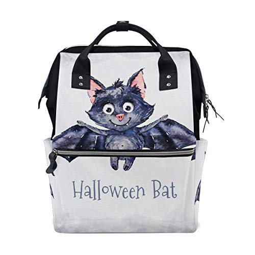 Paint Halloween Bat Travel Backpack Large Nappy Diaper Bag Laptop Backpacks for Women Men