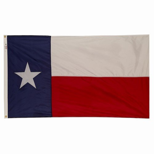 Valley Forge Huge Texas Flag, 6' x 10', Nylon, Sewn, 100% Made in USA!